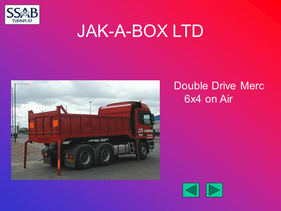 Double Drive Merc 6x4 on Air