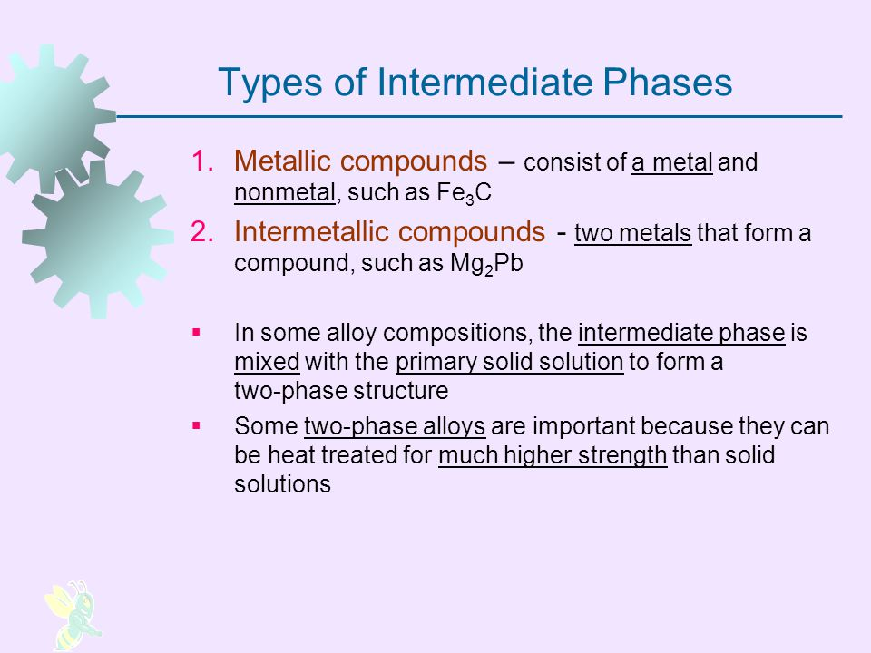 Types of Intermediate Phases