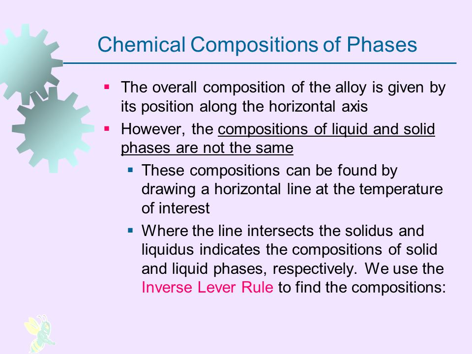 Chemical Compositions of Phases