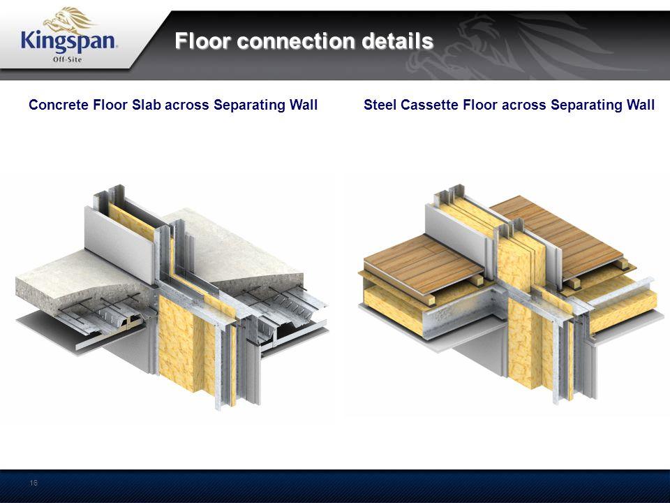 Floor connection details