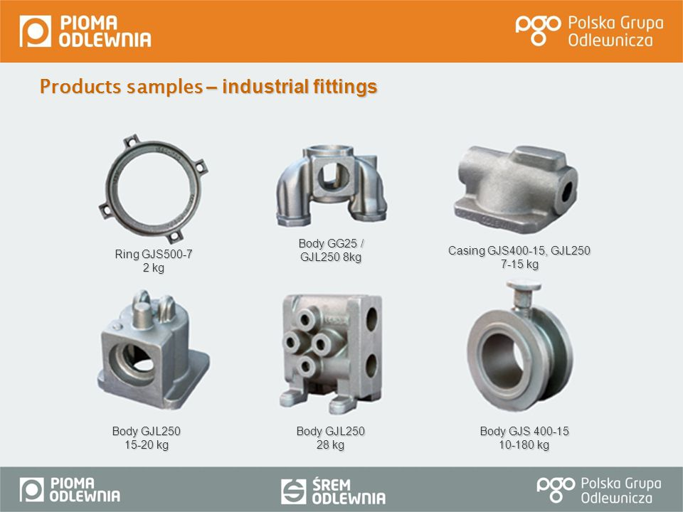 Products samples – industrial fittings