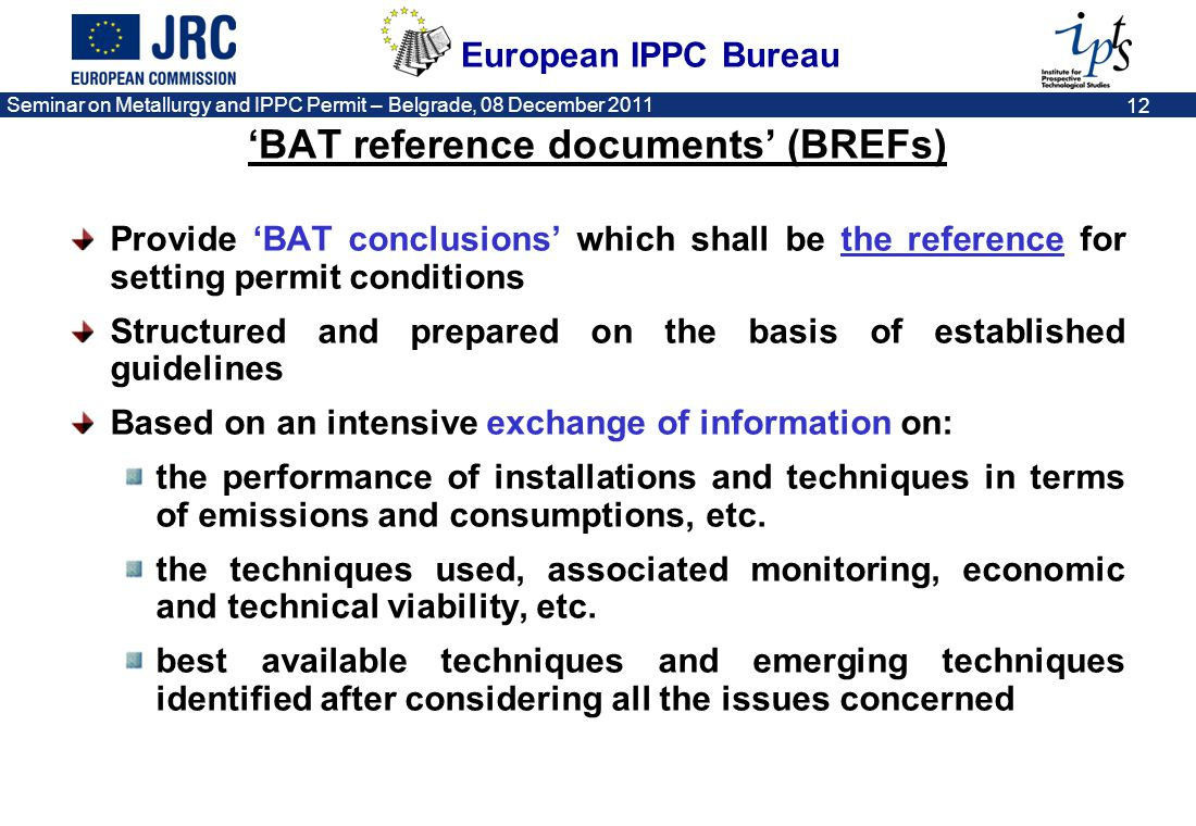 'BAT reference documents' (BREFs)