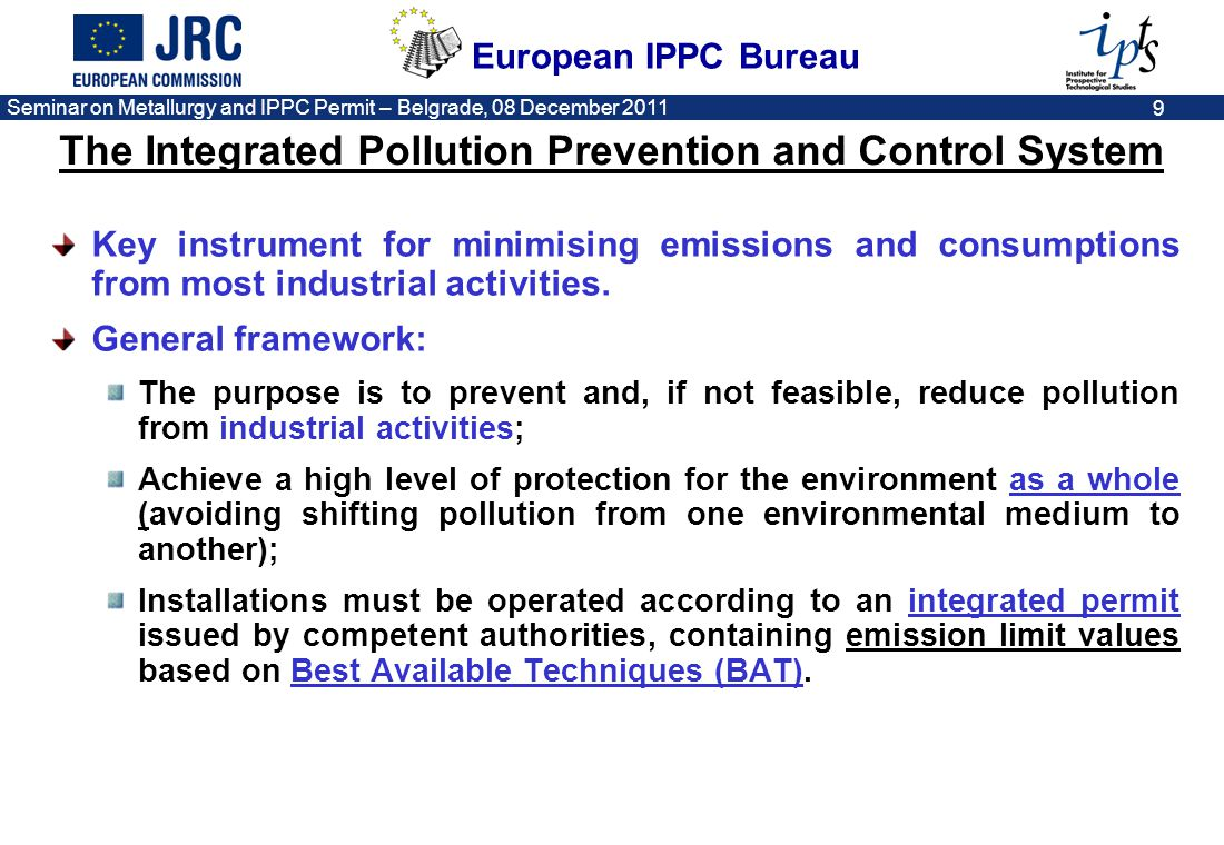 The Integrated Pollution Prevention and Control System