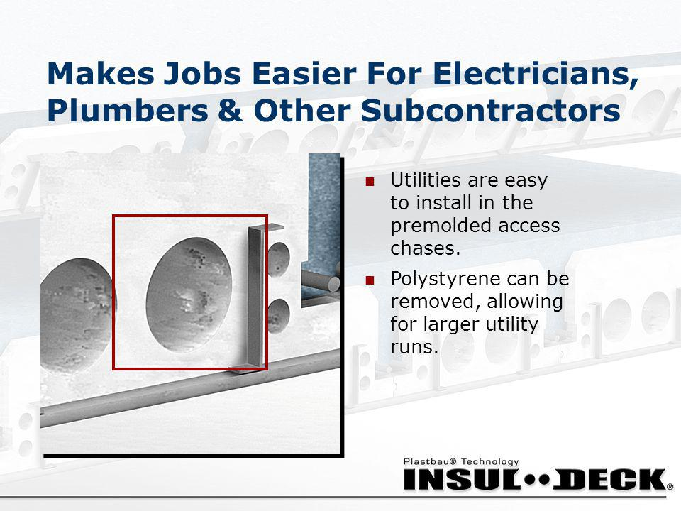 Makes Jobs Easier For Electricians, Plumbers & Other Subcontractors