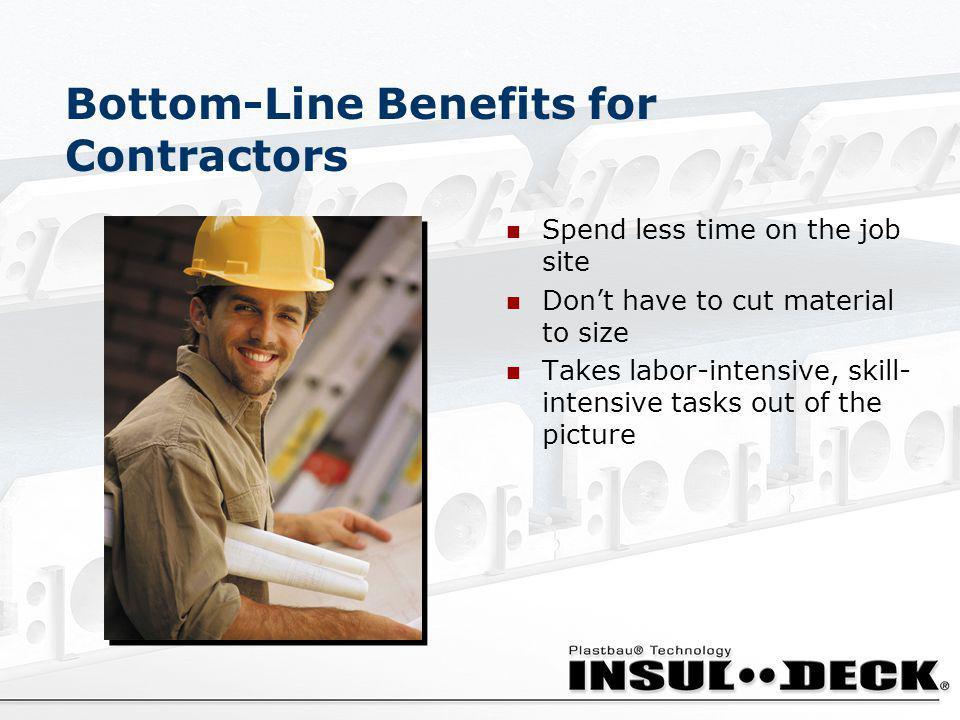 Bottom-Line Benefits for Contractors