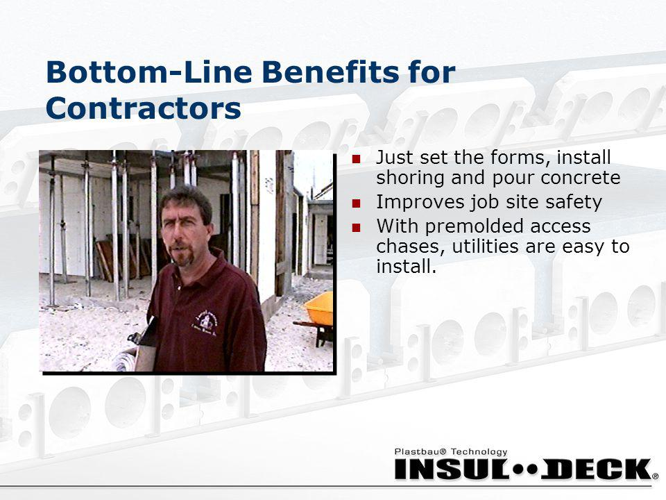 Bottom-Line Benefits for Contractors