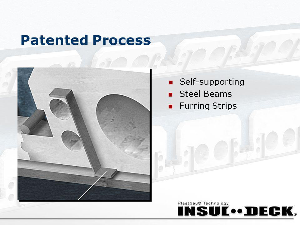 Patented Process Furring Strips Steel Beams Self-supporting