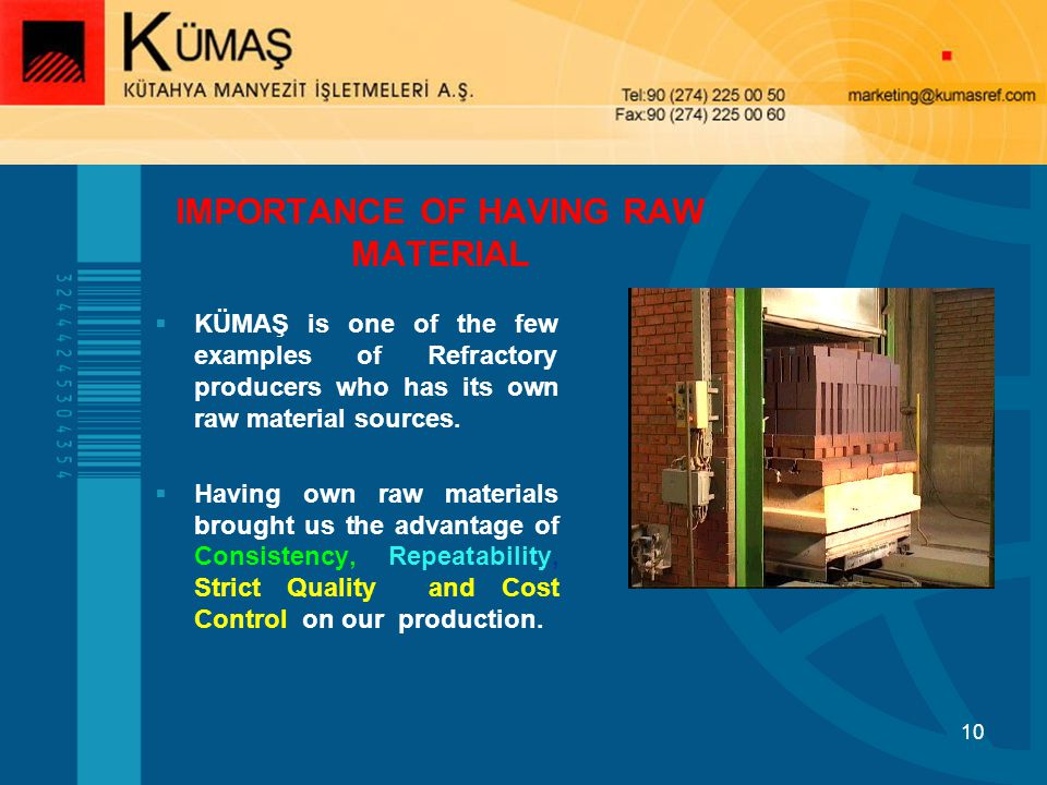 IMPORTANCE OF HAVING RAW MATERIAL