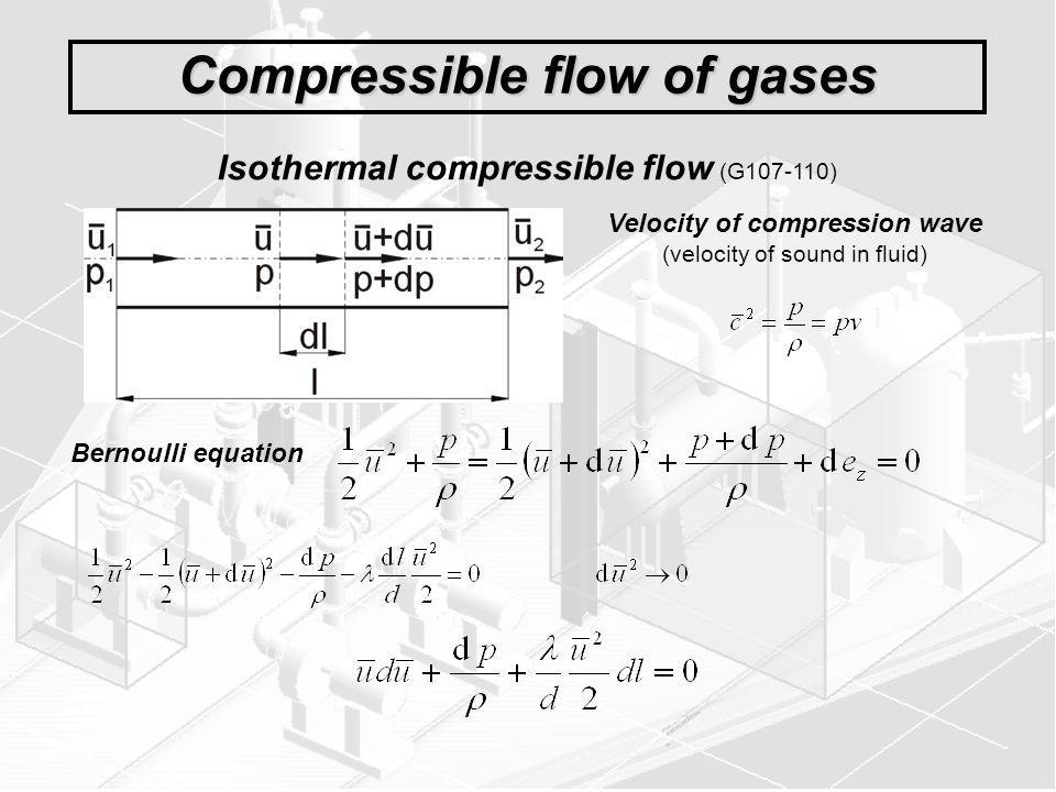 Compressible flow of gases