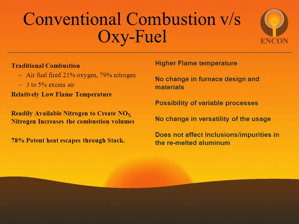 Conventional Combustion v/s Oxy-Fuel