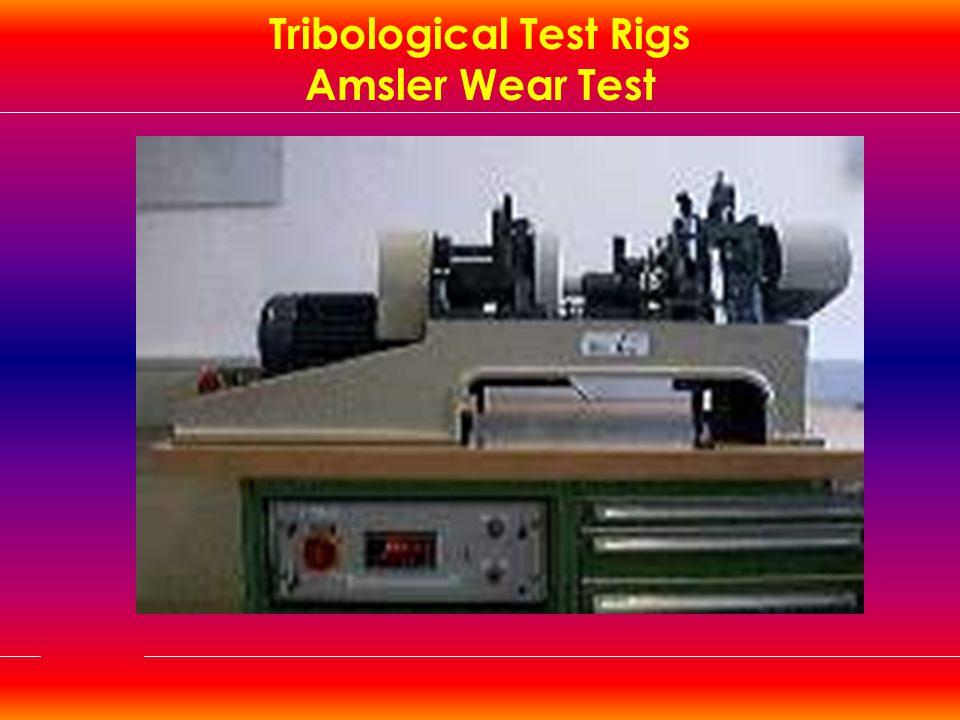 Tribological Test Rigs Amsler Wear Test