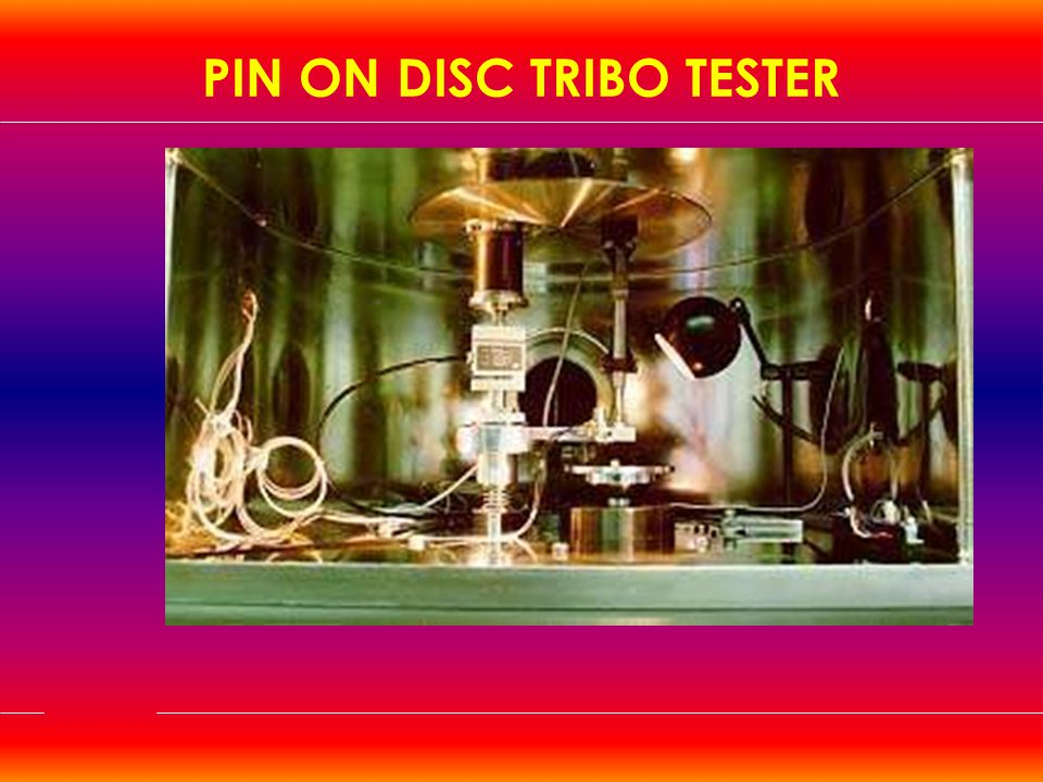 PIN ON DISC TRIBO TESTER