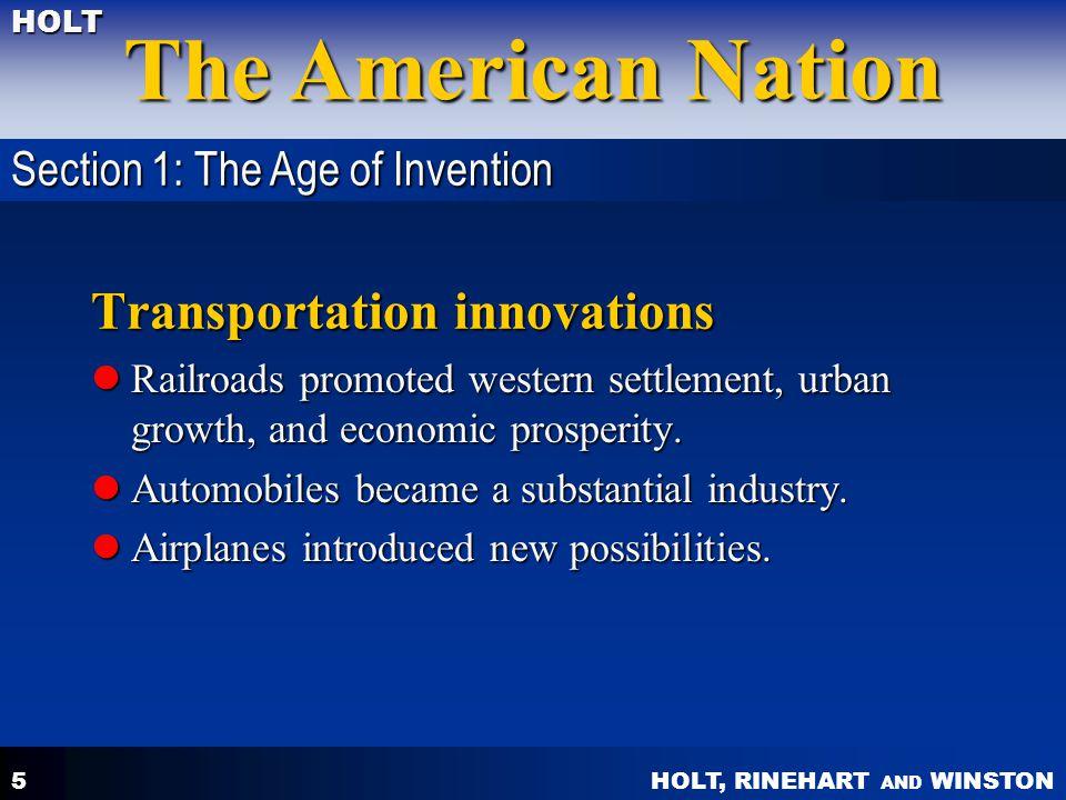 Transportation innovations