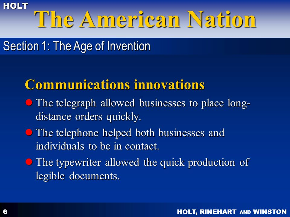 Communications innovations