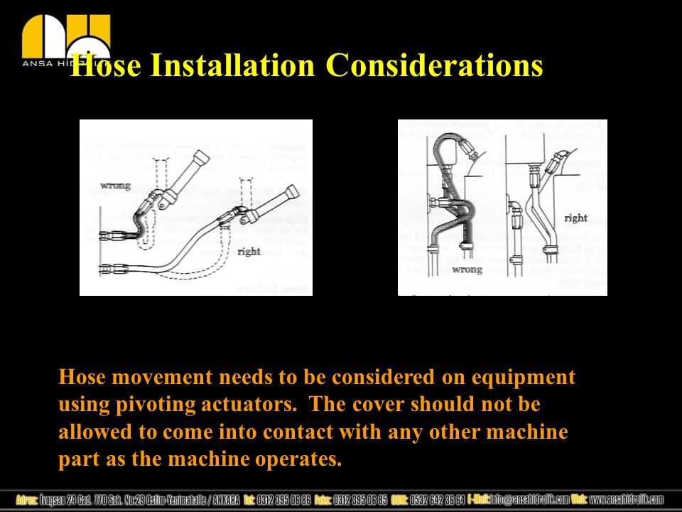 Hose Installation Considerations