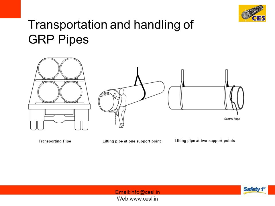 Transportation and handling of GRP Pipes