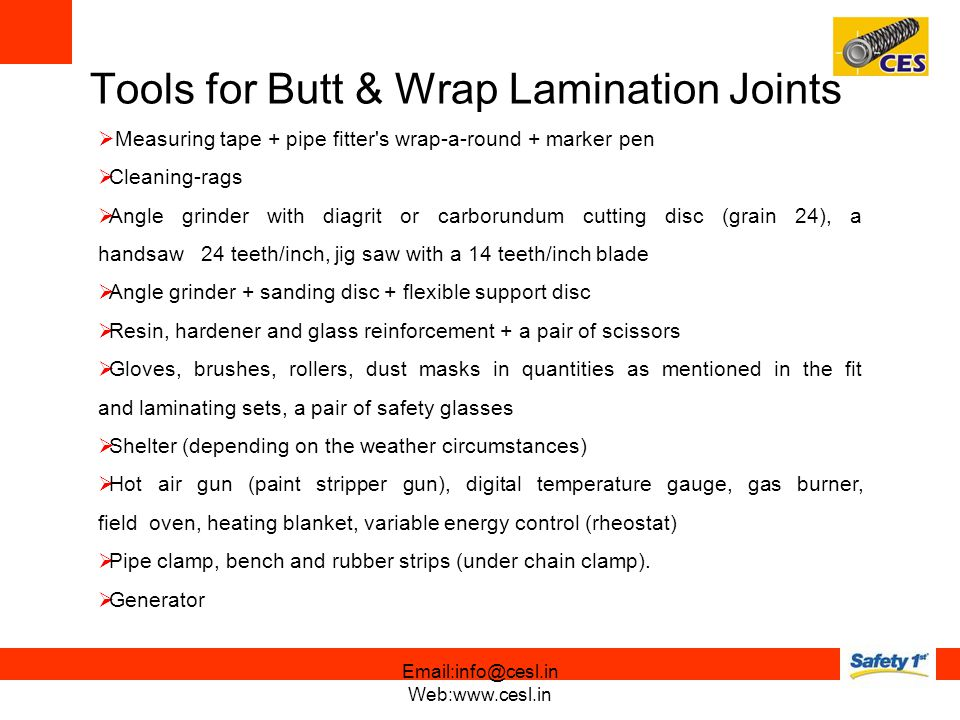 Tools for Butt & Wrap Lamination Joints