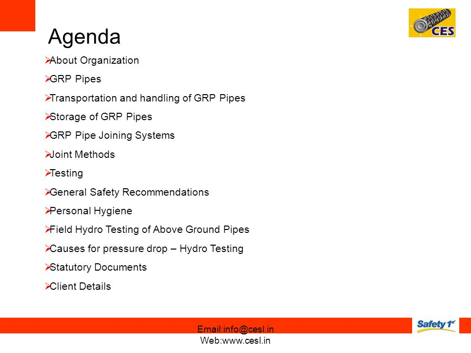 Agenda About Organization GRP Pipes