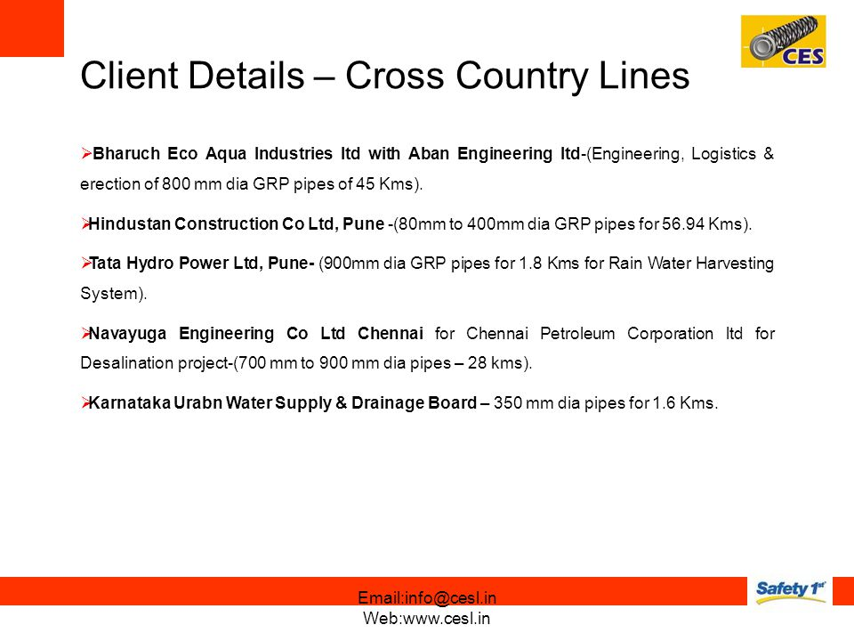 Client Details – Cross Country Lines