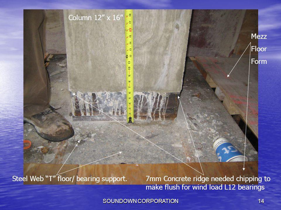 Steel Web T floor/ bearing support.