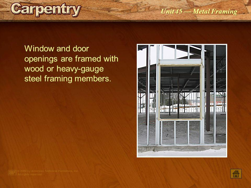 Unit 45 Metal Framing Industry And Code Regulations