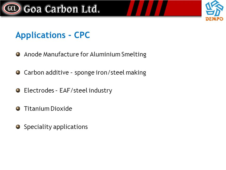 Applications - CPC Anode Manufacture for Aluminium Smelting
