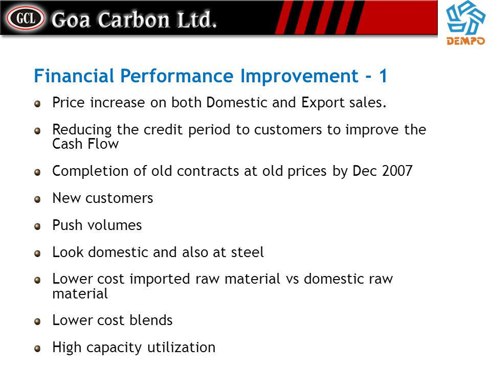 Financial Performance Improvement - 1
