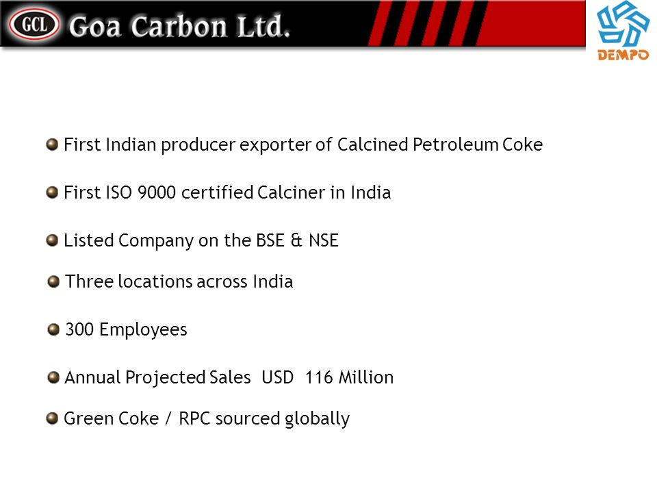 First Indian producer exporter of Calcined Petroleum Coke
