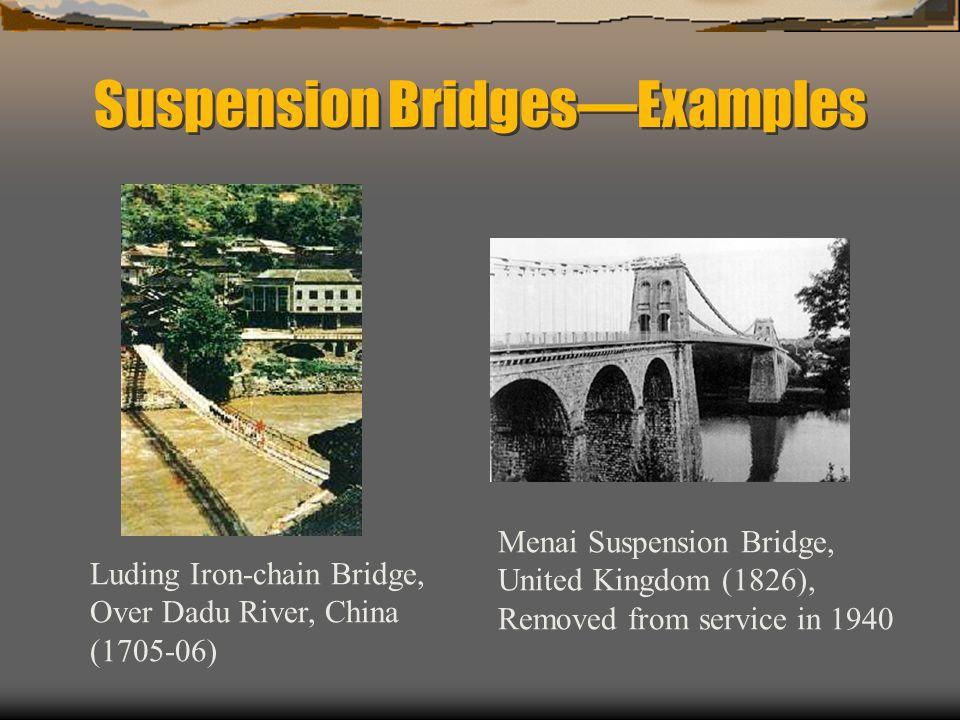 Suspension Bridges—Examples