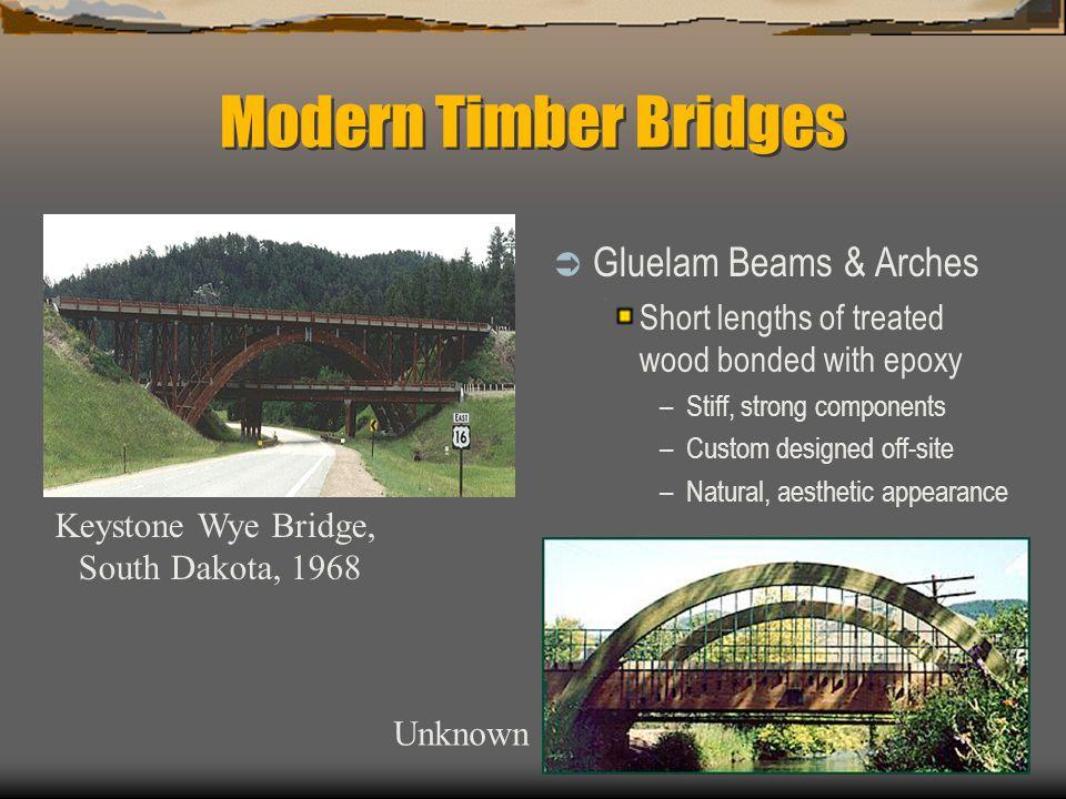 Modern Timber Bridges Gluelam Beams & Arches