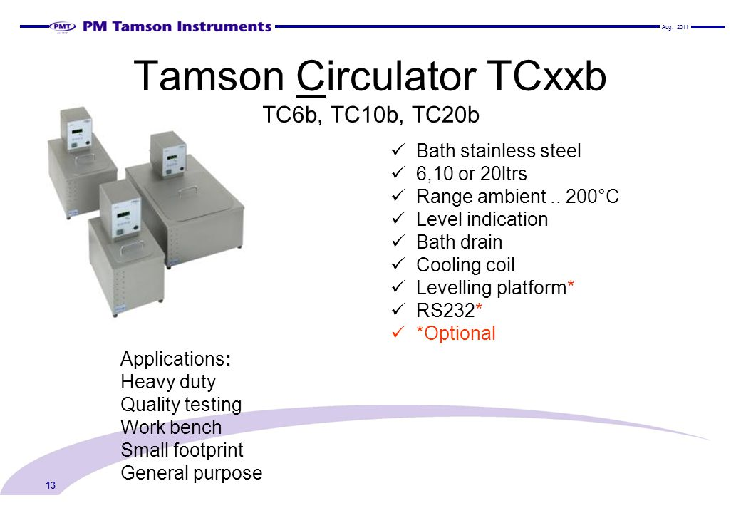Tamson Circulator TCxxb TC6b, TC10b, TC20b