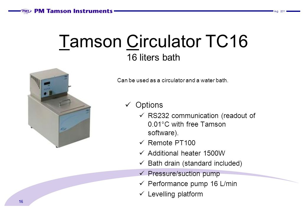 Tamson Circulator TC16 16 liters bath