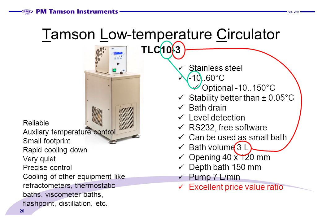 Tamson Low-temperature Circulator TLC10-3