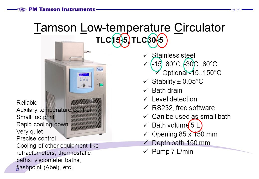 Tamson Low-temperature Circulator TLC15-5, TLC30-5