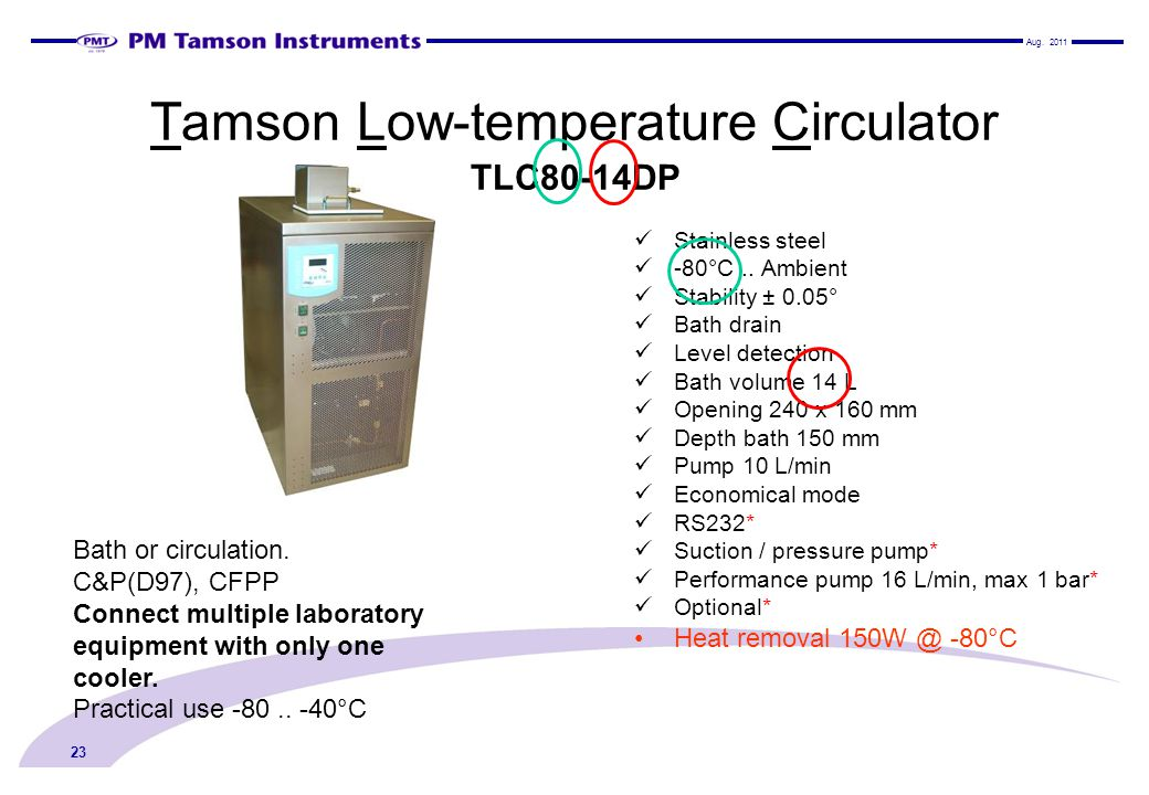 Tamson Low-temperature Circulator TLC80-14DP
