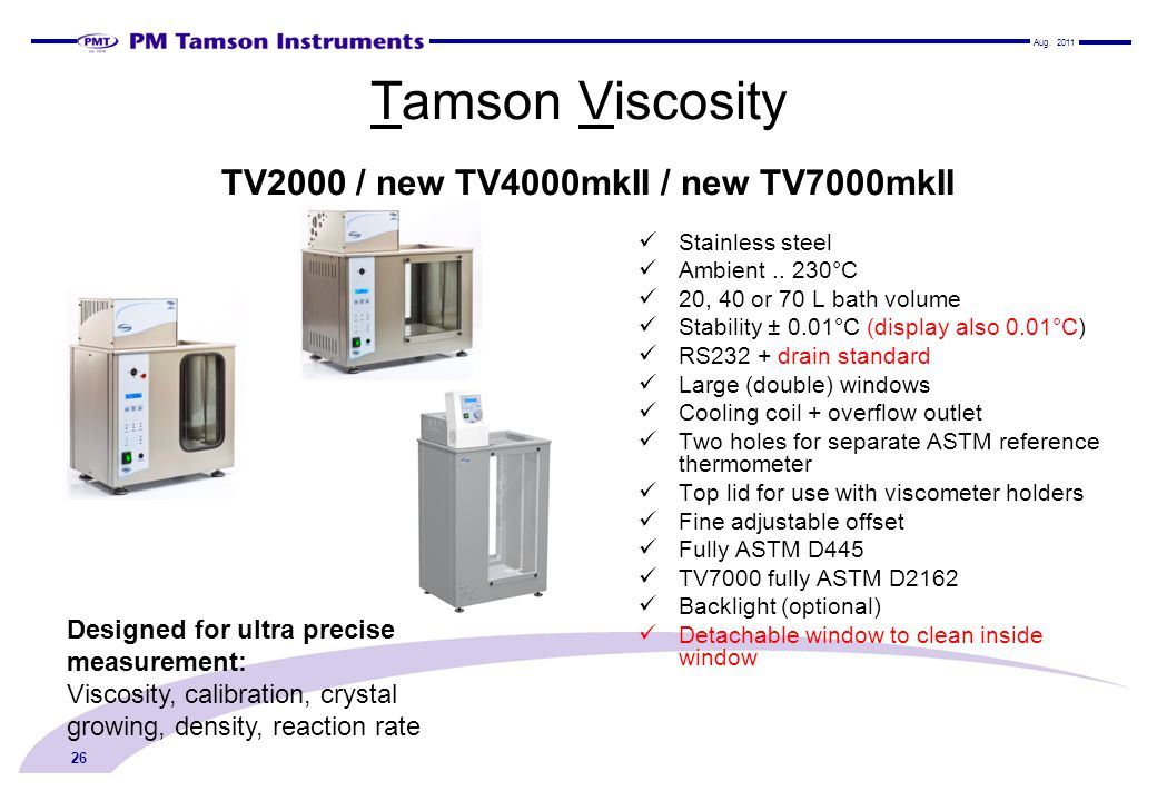 Tamson Viscosity TV2000 / new TV4000mkII / new TV7000mkII