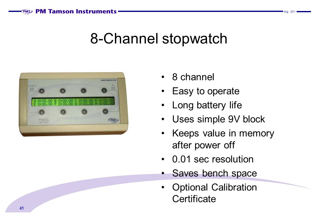 8-Channel stopwatch 8 channel Easy to operate Long battery life