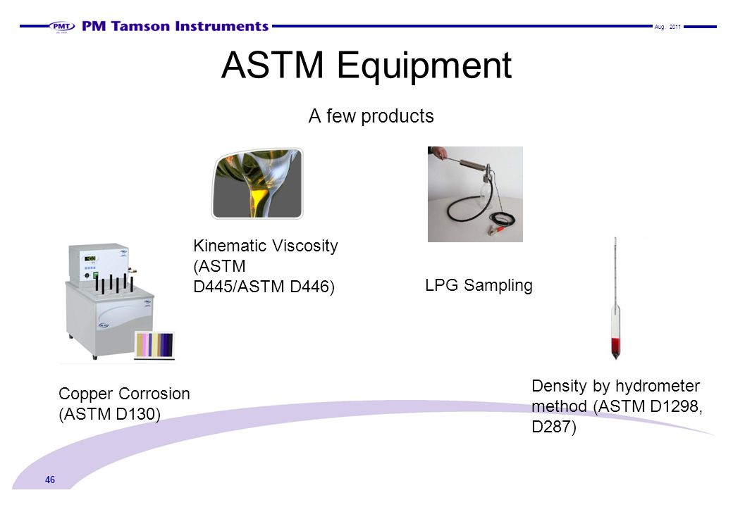 ASTM Equipment A few products