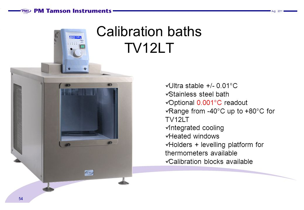 Calibration baths TV12LT