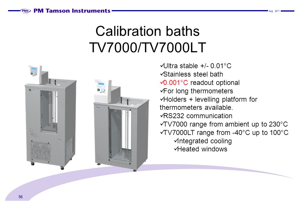 Calibration baths TV7000/TV7000LT