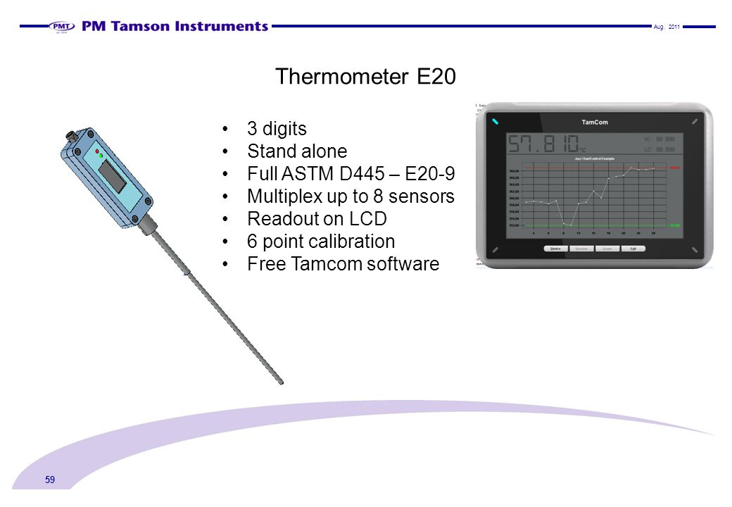 Thermometer E20 3 digits Stand alone Full ASTM D445 – E20-9