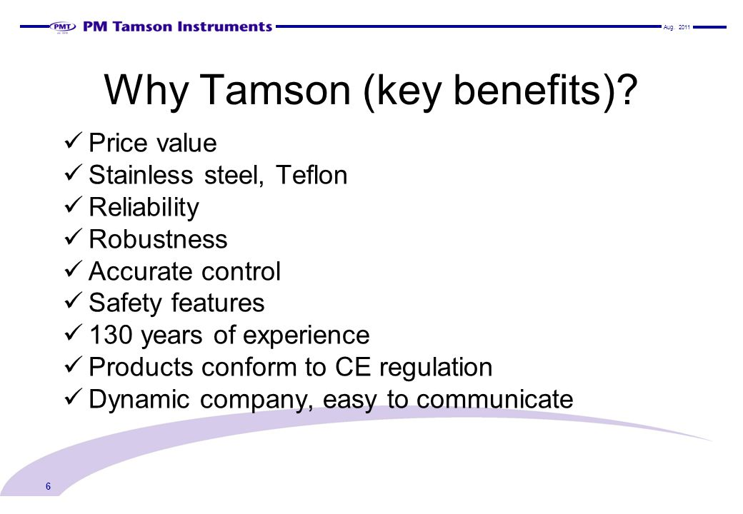 Why Tamson (key benefits)