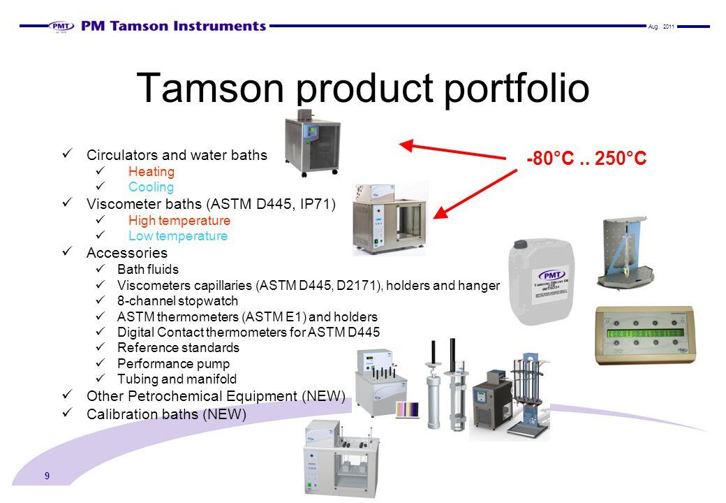 Tamson product portfolio