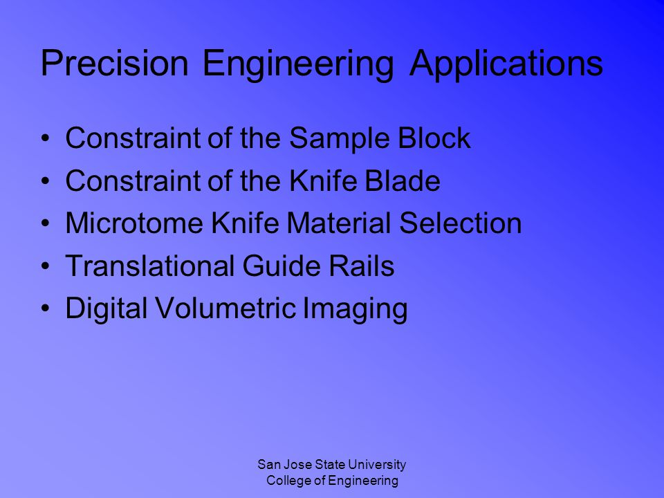 Precision Engineering Applications
