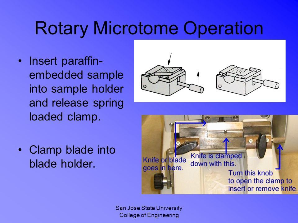 Rotary Microtome Operation