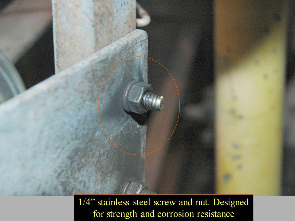 1/4 stainless steel screw and nut