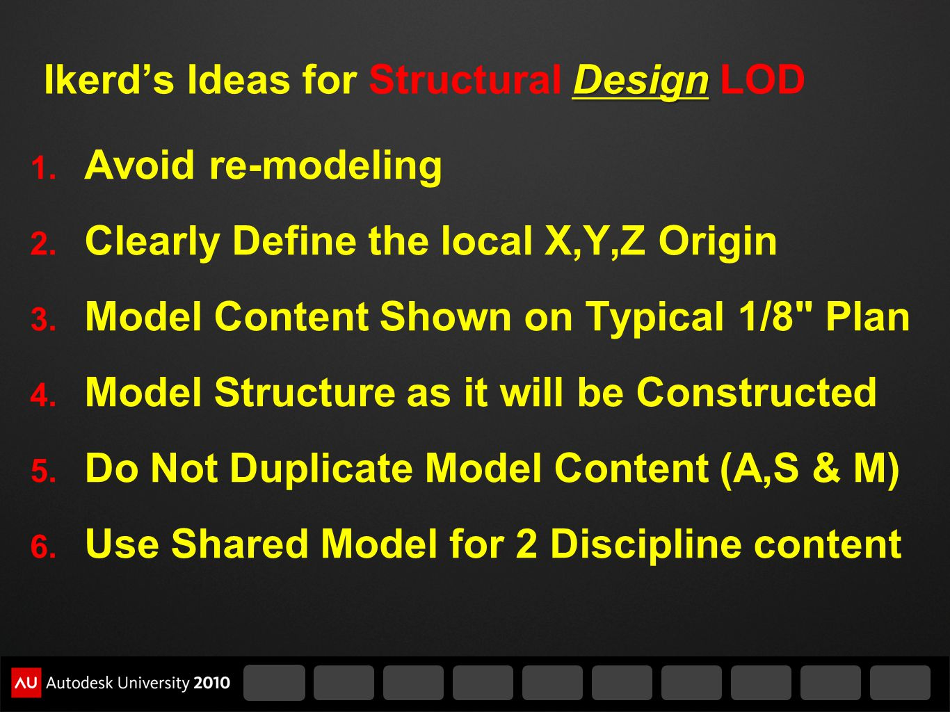 Ikerd's Ideas for Structural Design LOD