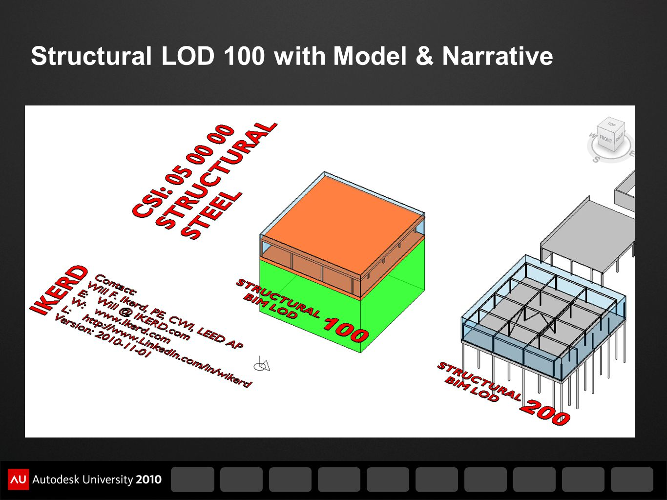 Structural LOD 100 with Model & Narrative