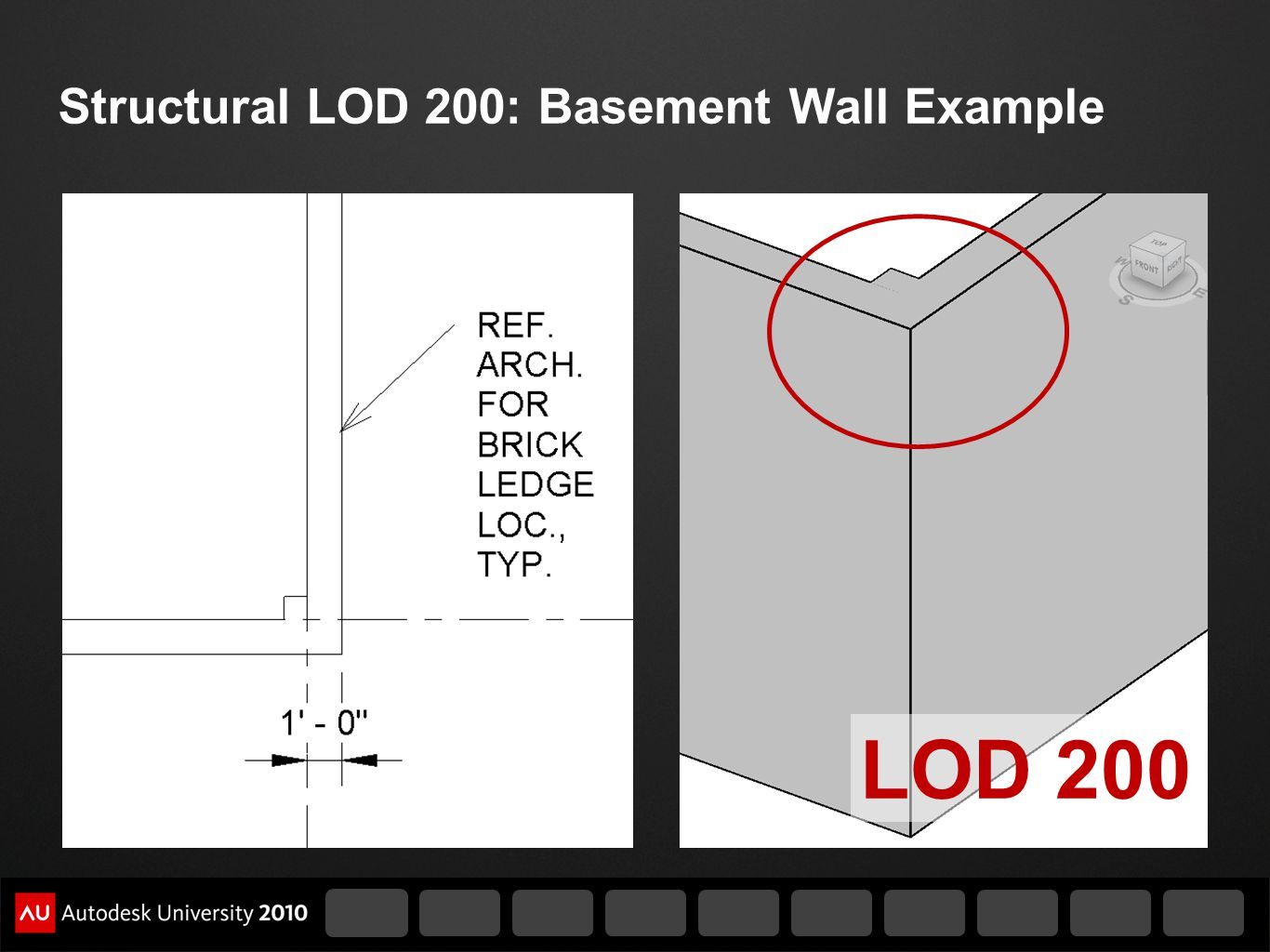Structural LOD 200: Basement Wall Example