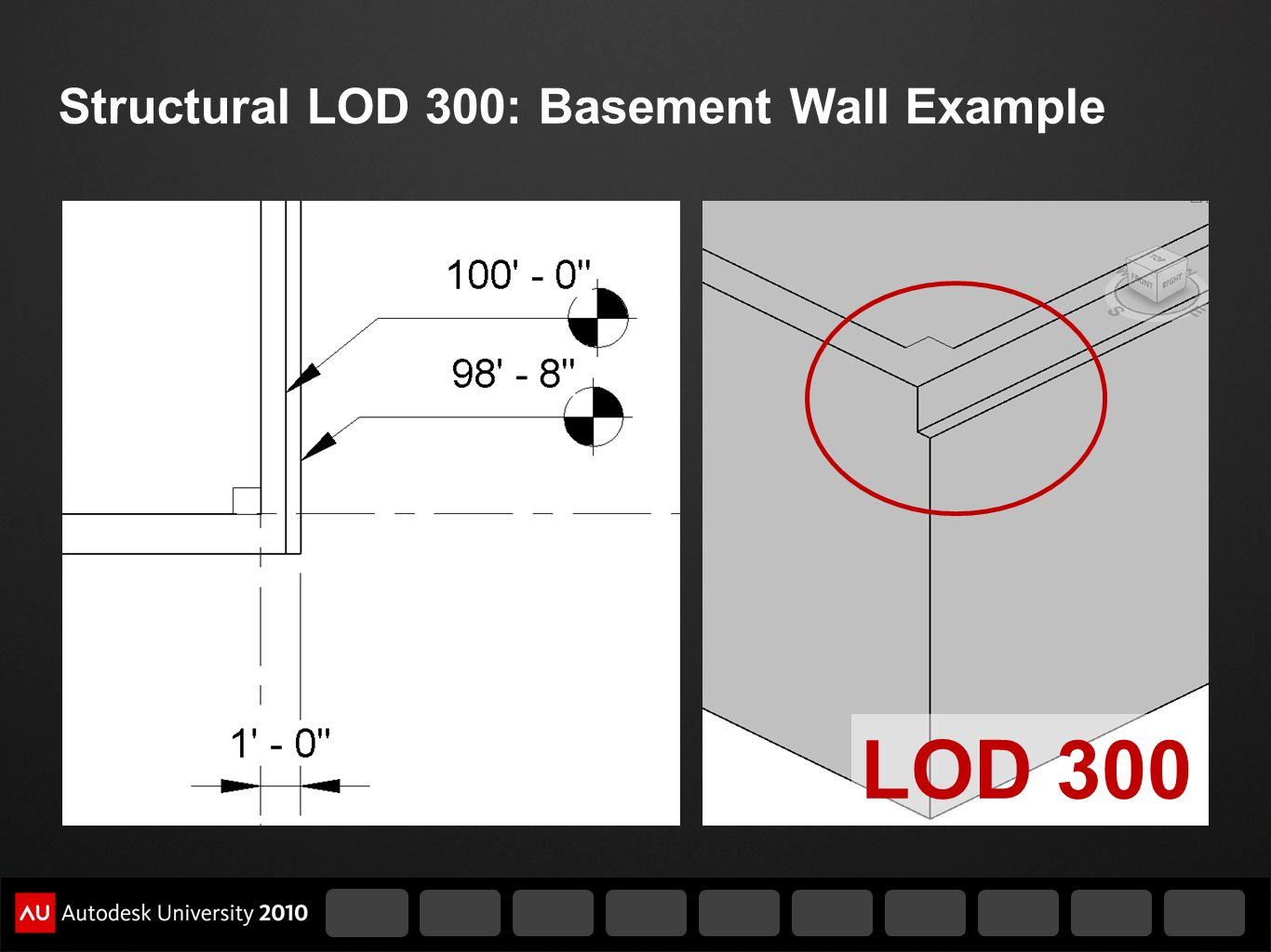 Structural LOD 300: Basement Wall Example